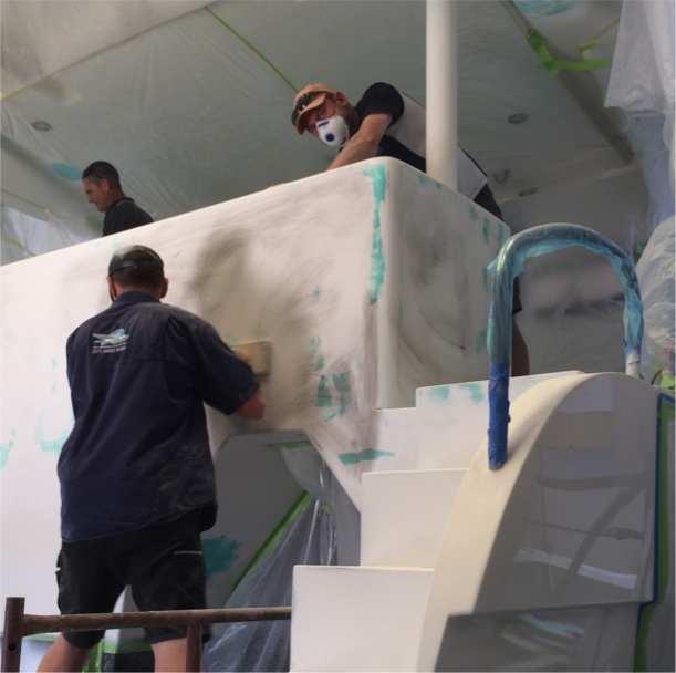 fibreglass, gelcoat, timber and paint work